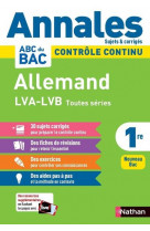 Annales bac 2021- allemand 1re-corrige